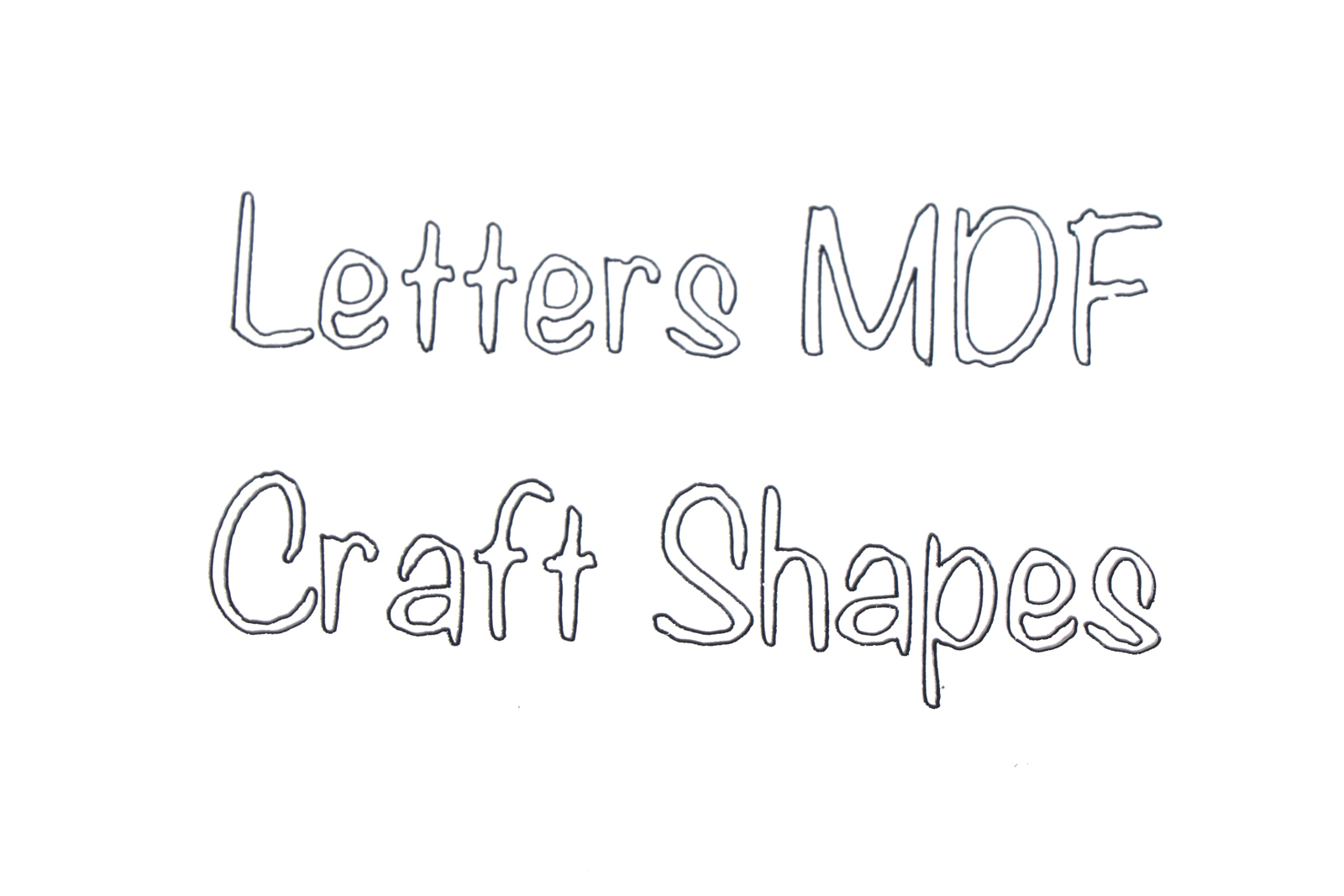 BR-Crafts Letters made of MDF