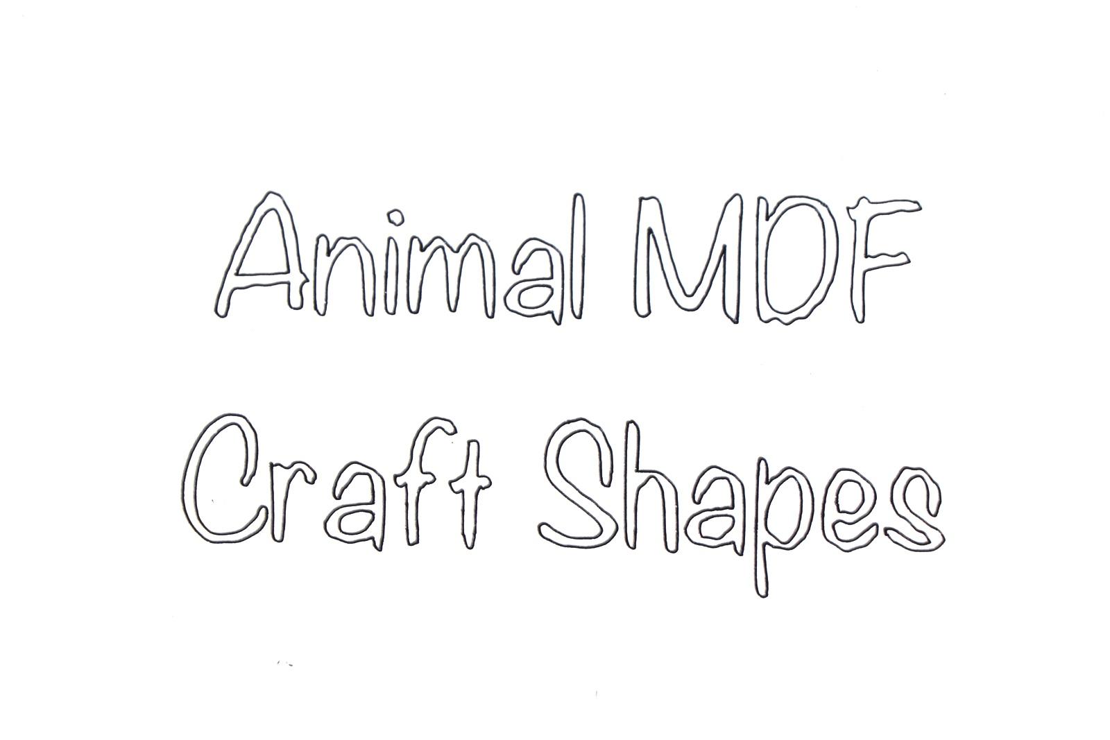 BR-Crafts Animal MDF Shapes