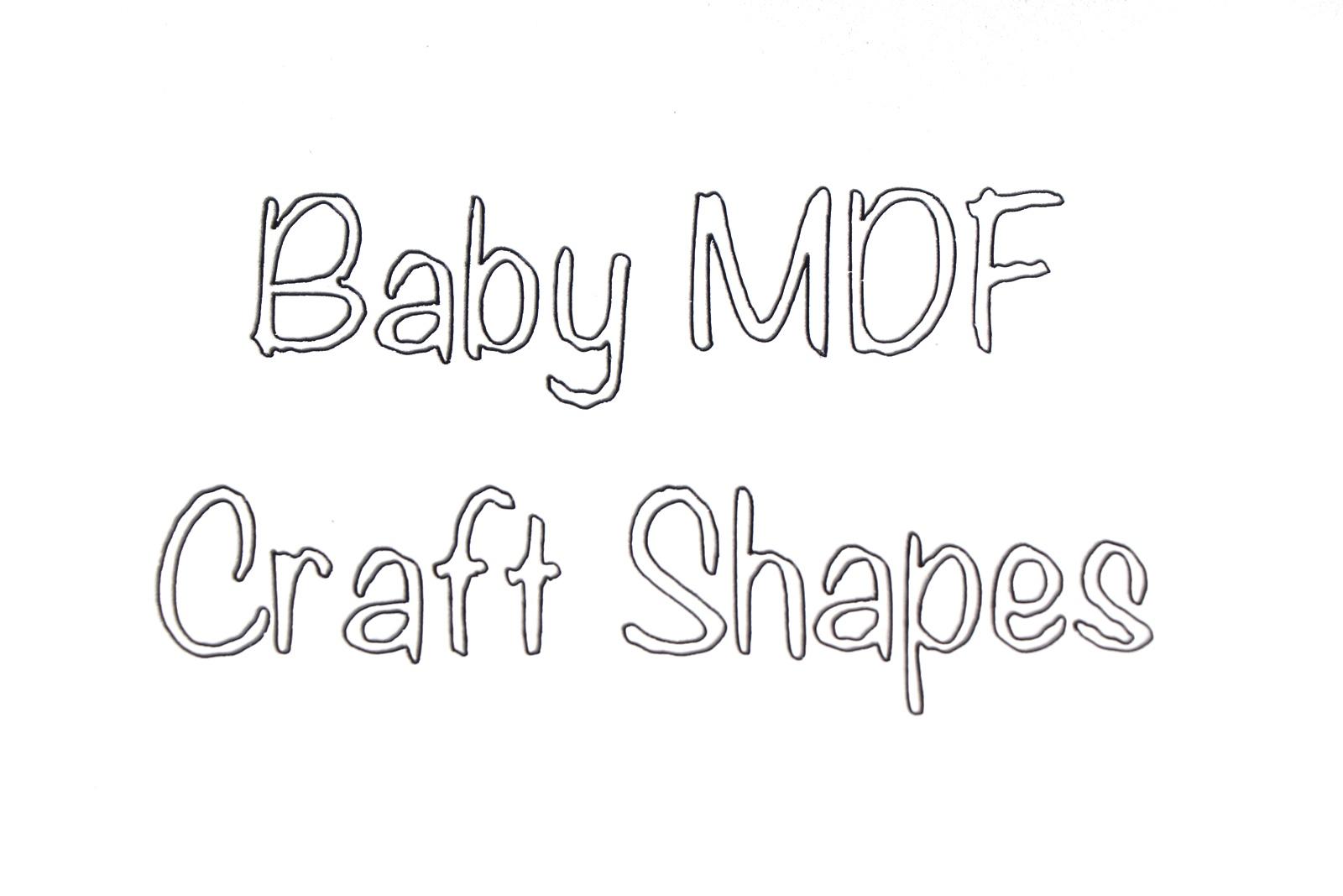 BR-Crafts MDF Baby Shapes