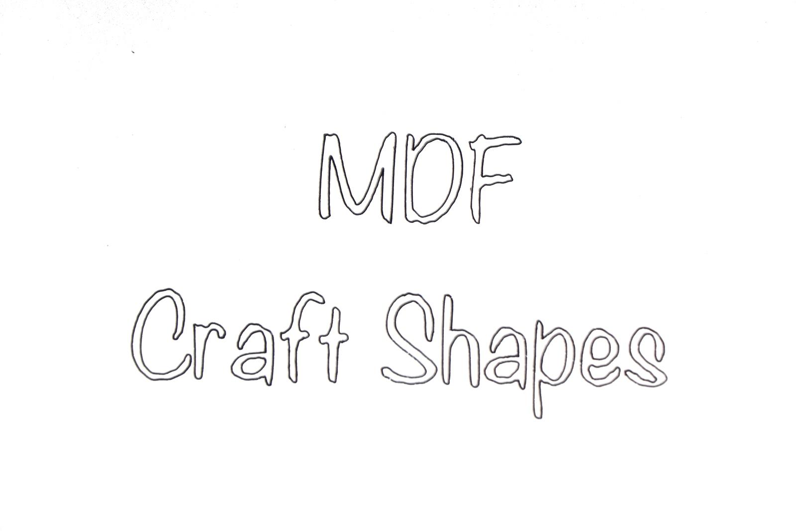 BR-Crafts MDF Craft Shapes