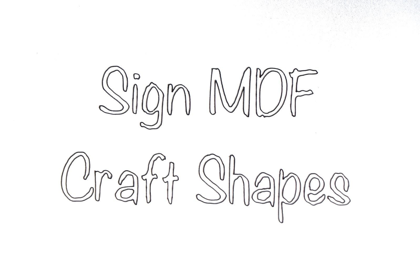 BR-Crafts MDF sign Shapes