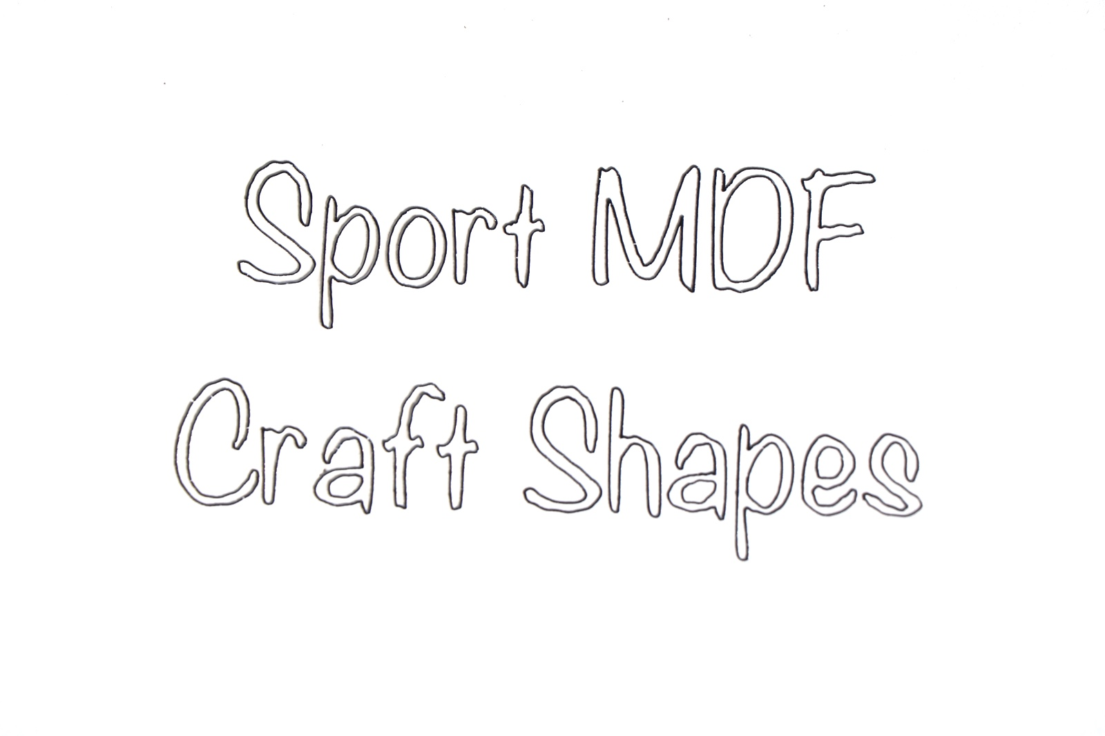 BR-Crafts MDF Sport Shapes