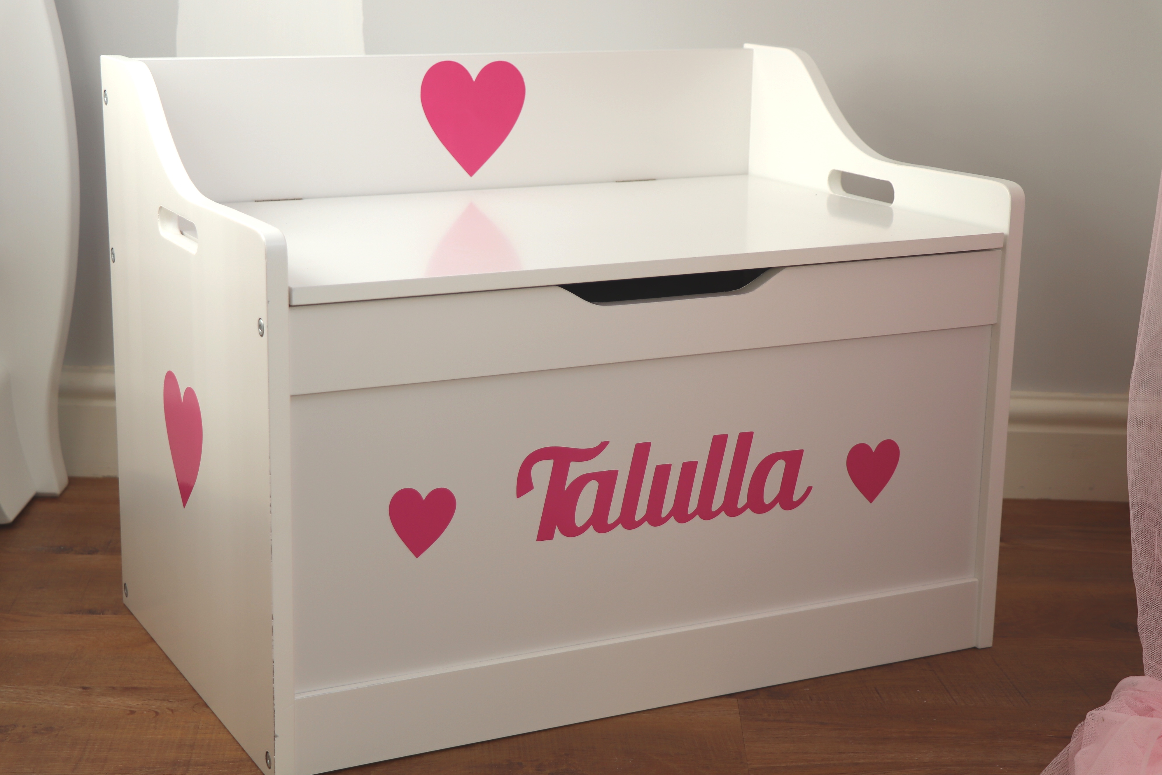 BR-CraftsPink Text Toy Box