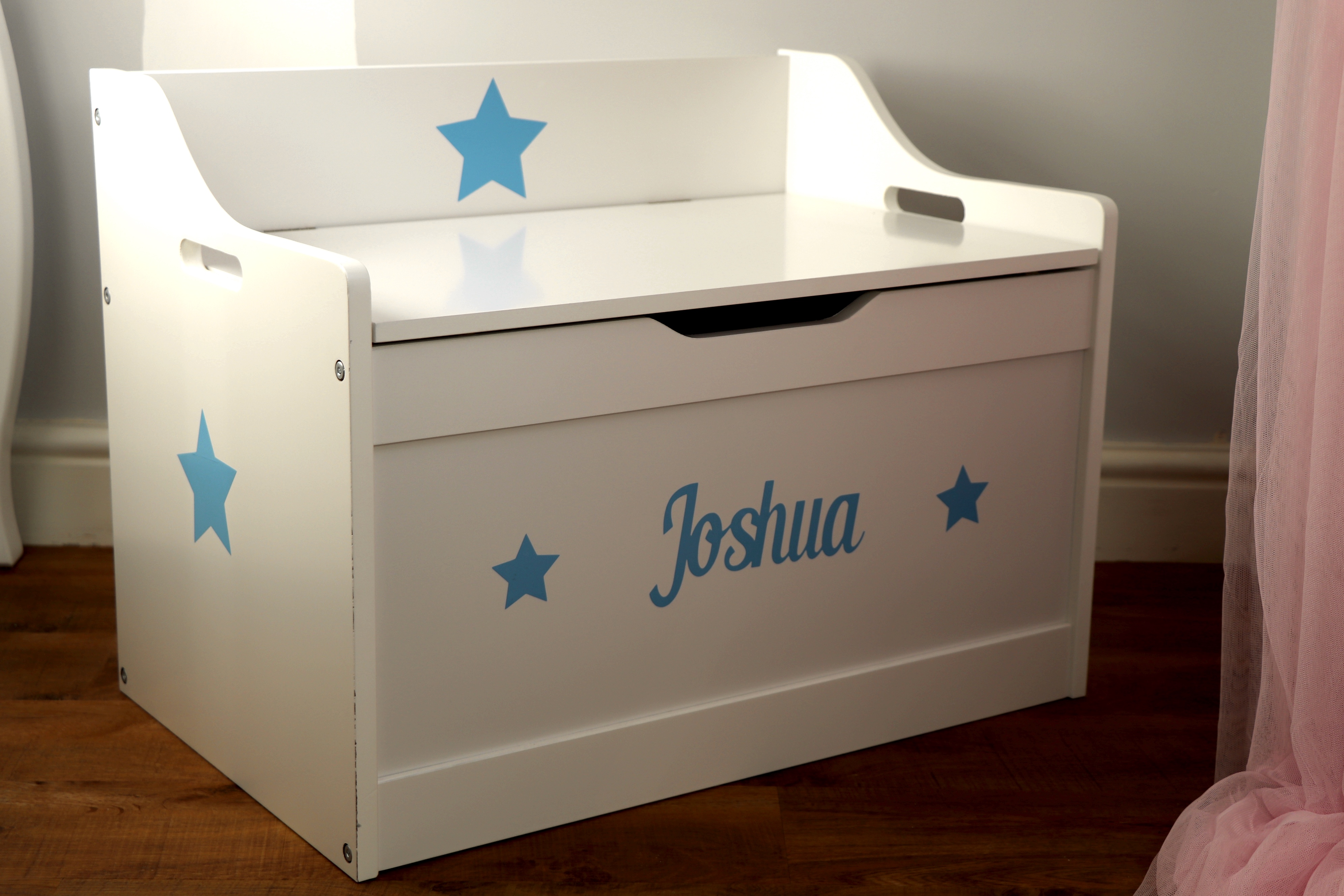 BR-CraftsBlue Text Toy Box