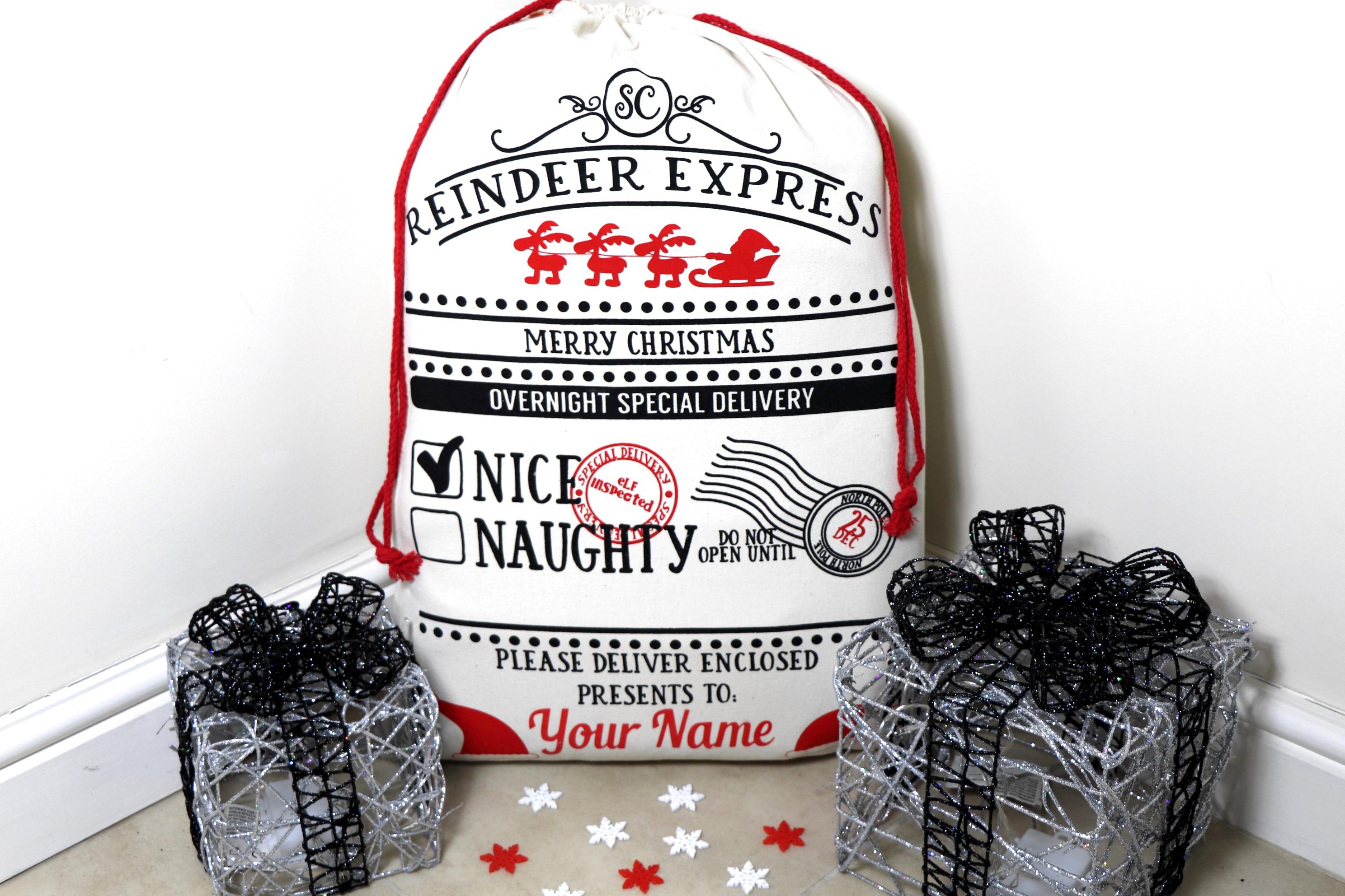 BR-Crafts reindeer Santa Sack