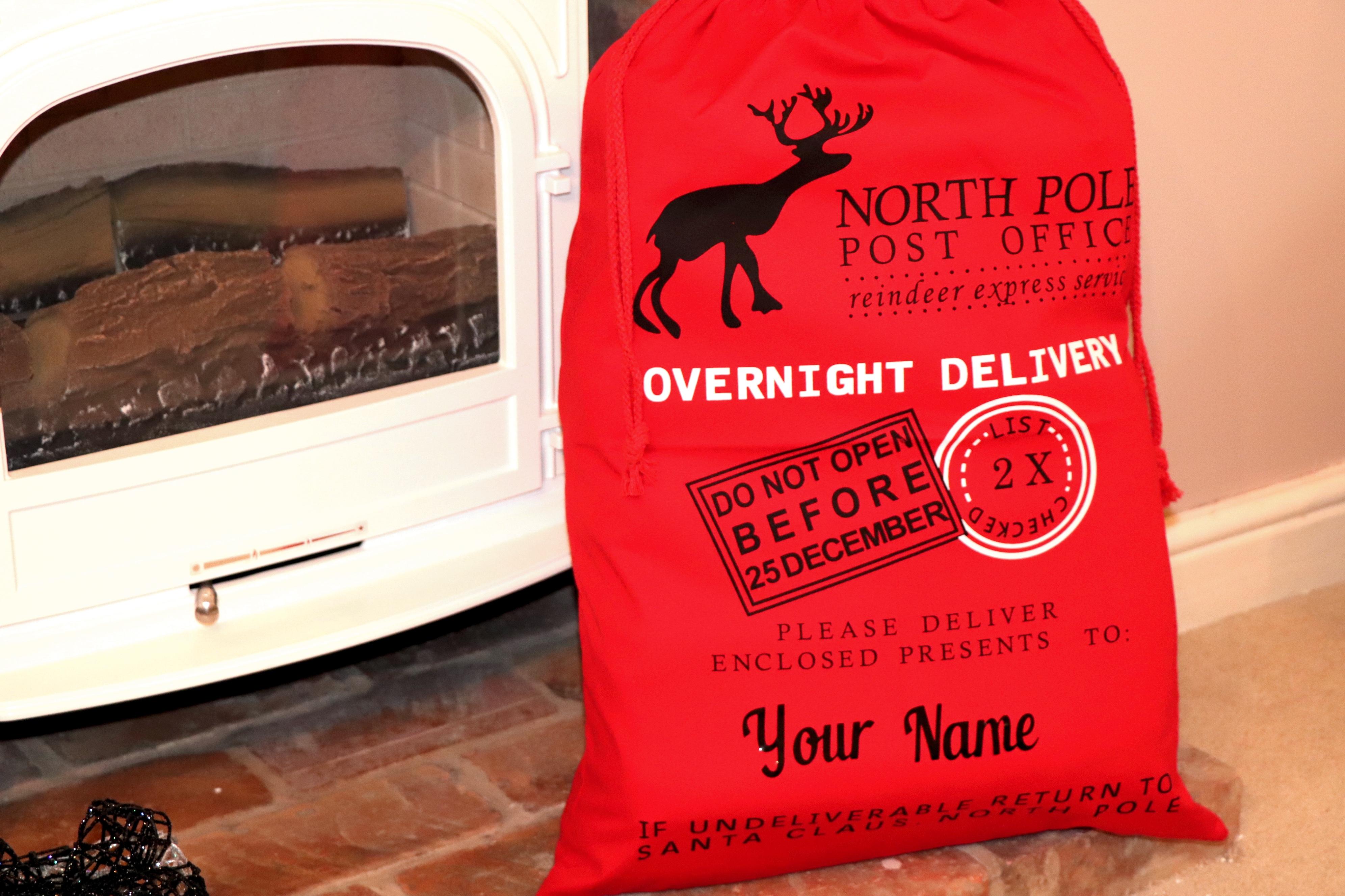 BR-Crafts Red North Pole Santa Sack