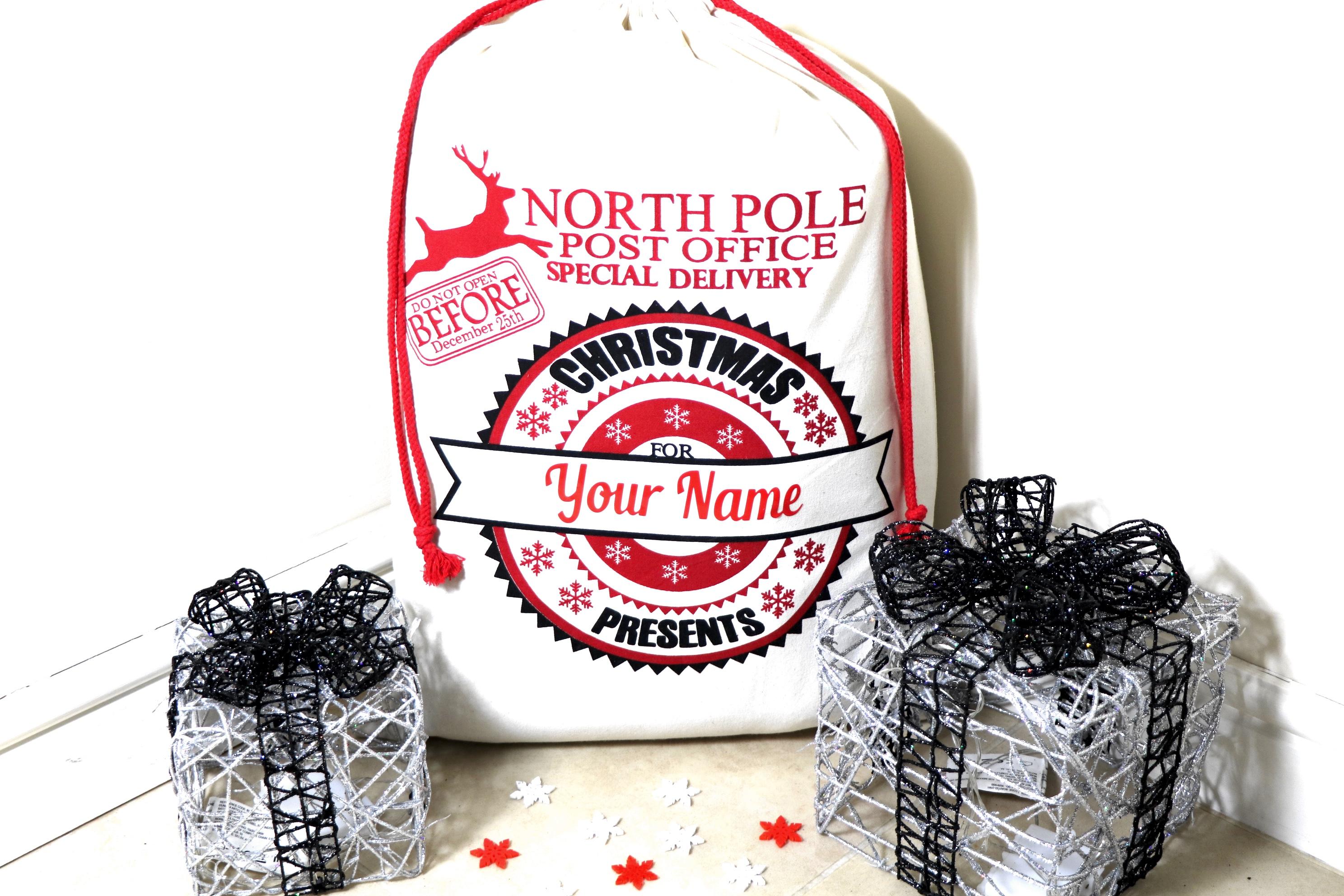 BR-Crafts North Pole Santa Sack