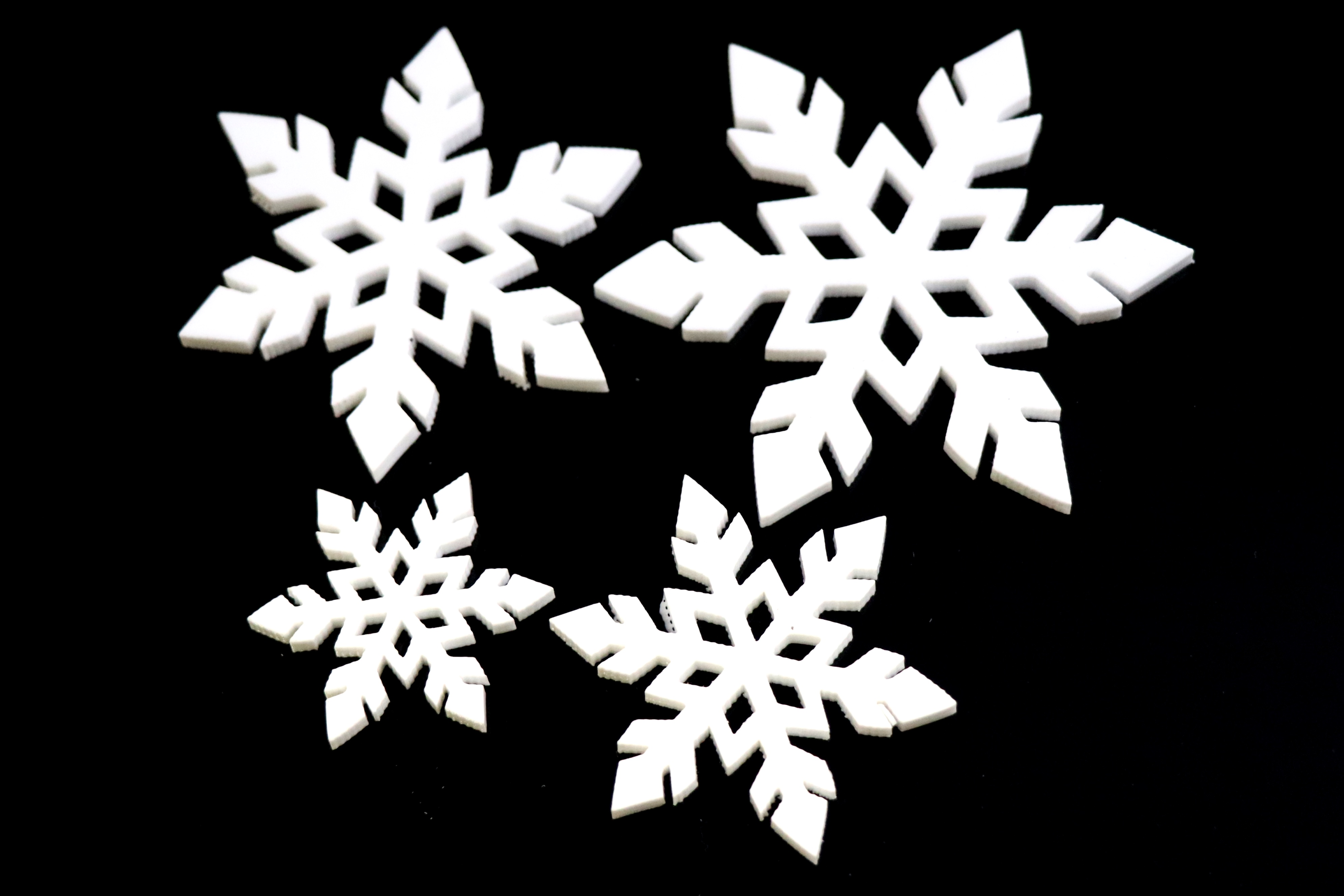 BR-Crafts Acrylic White Snowflake