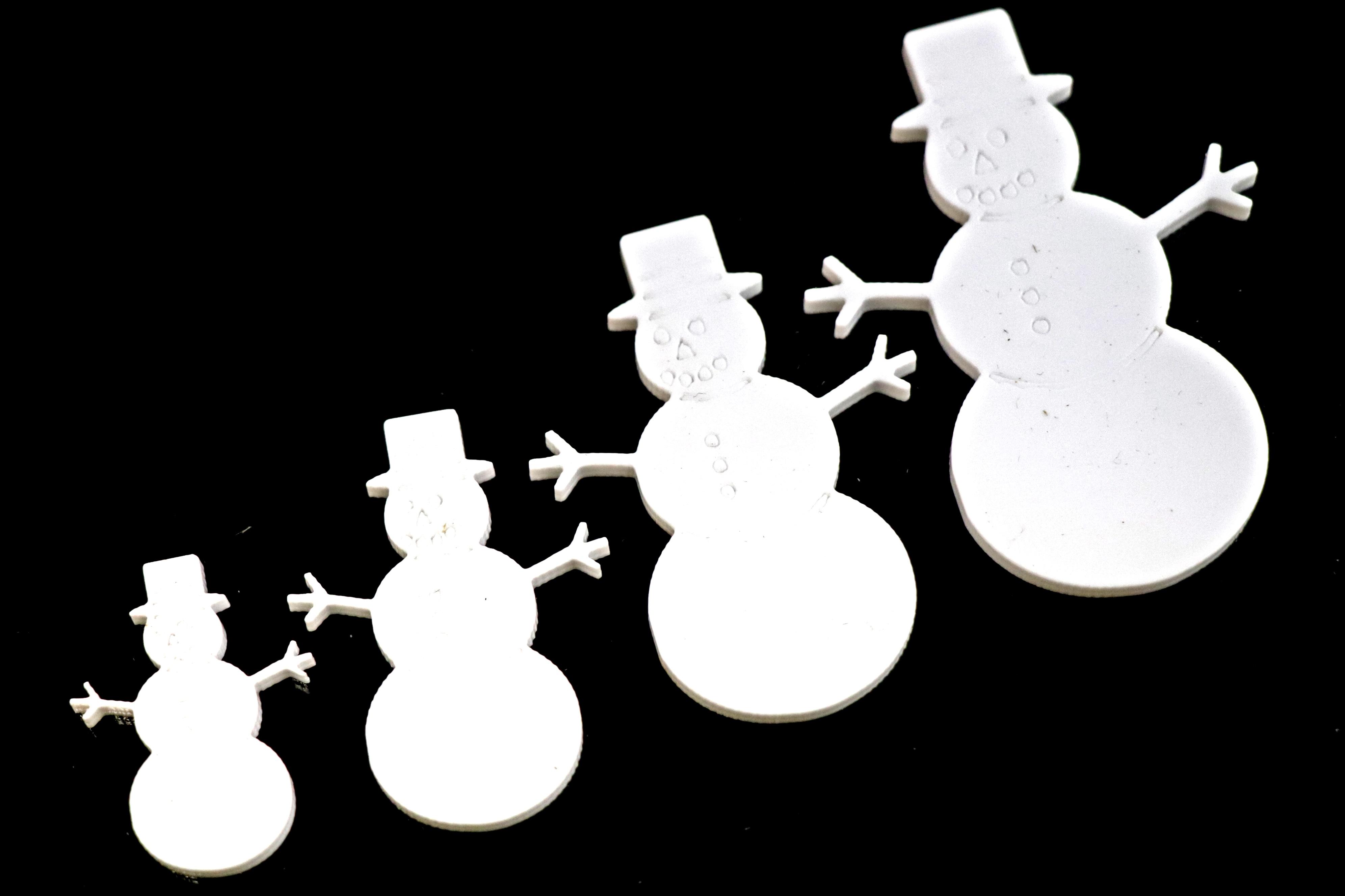 BR-Crafts Acrylic White Snowman