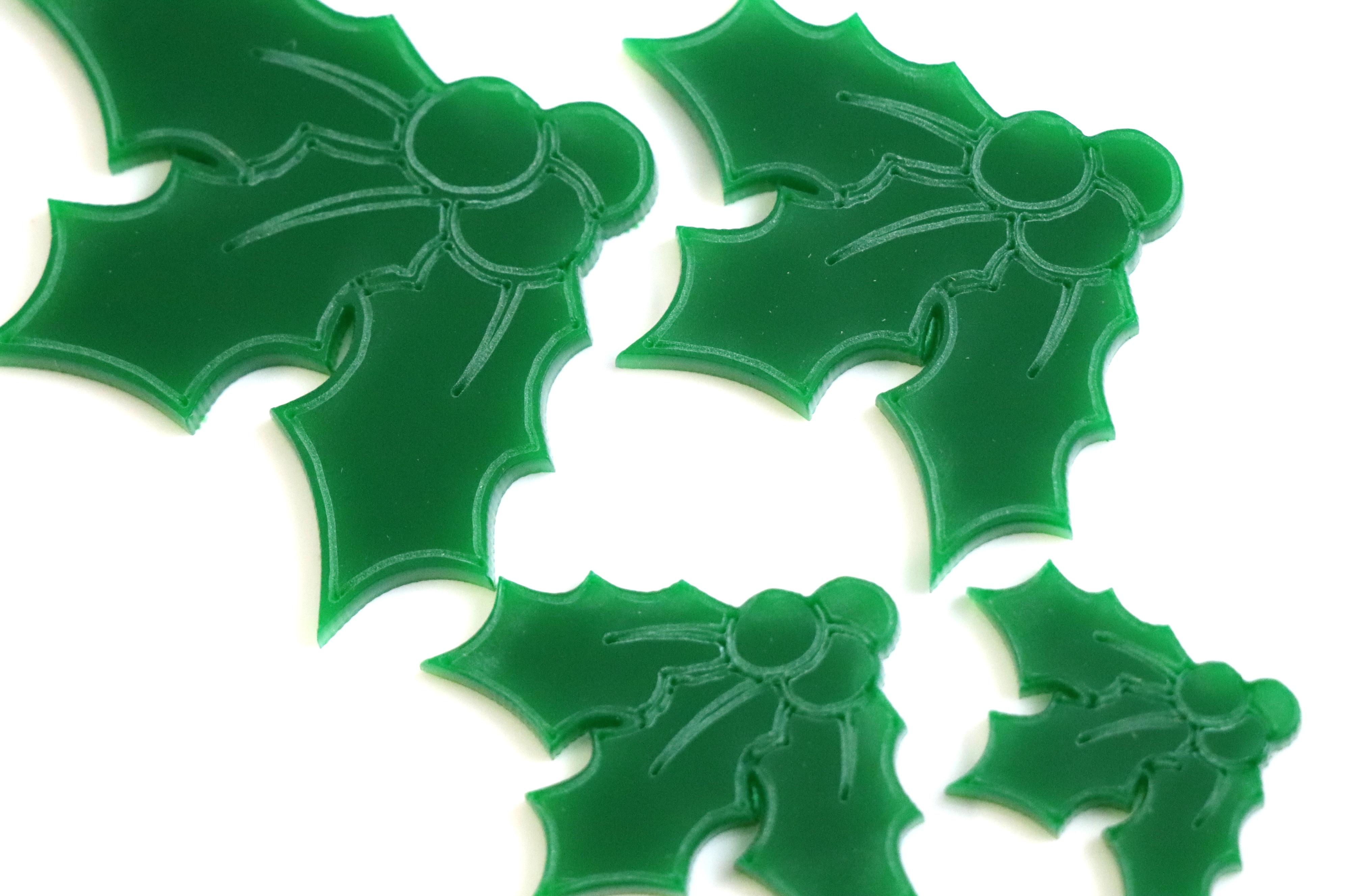 BR-Crafts Acrylic Christmas Holly