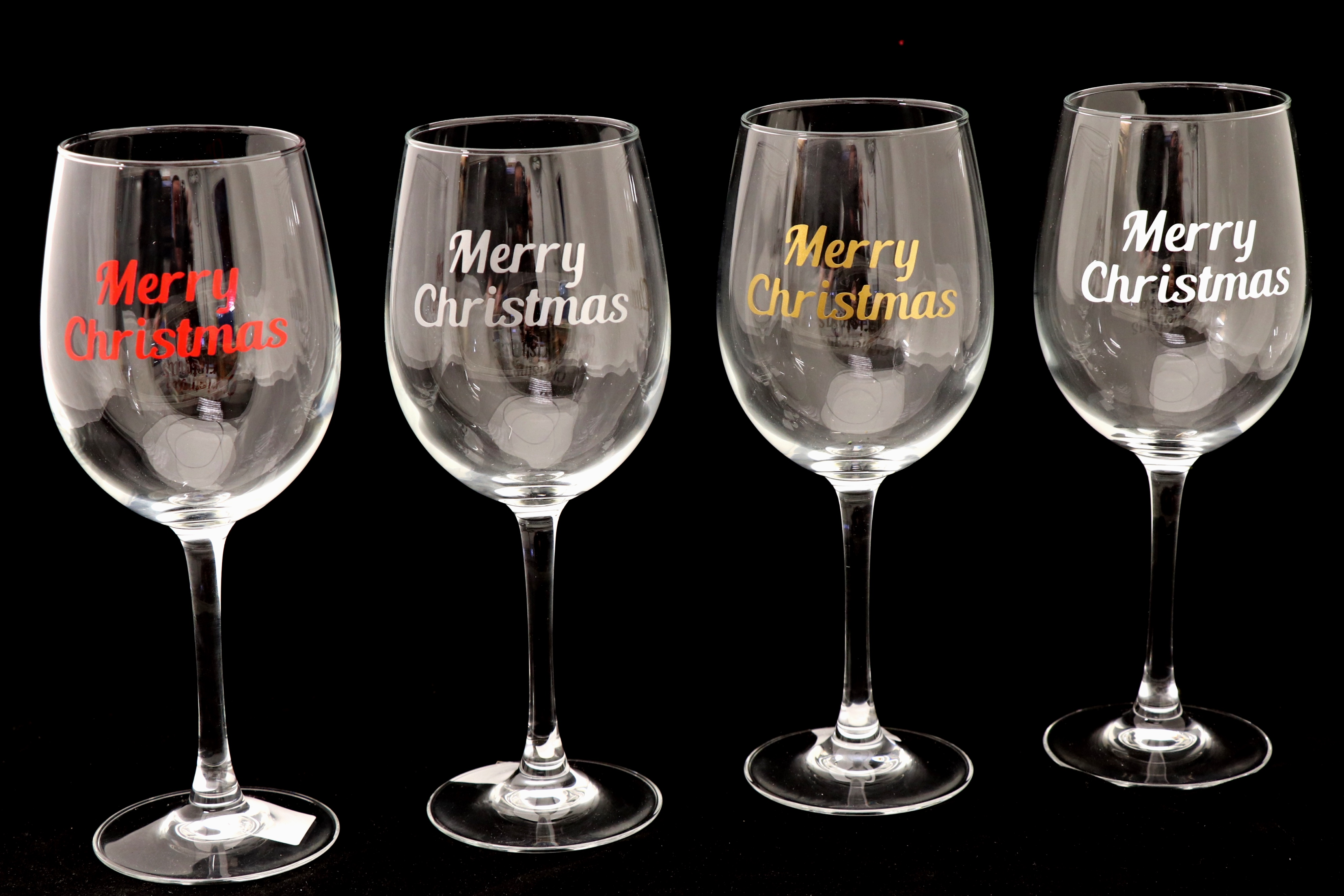 BR-Crafts Christmas Wine Glass Stickers